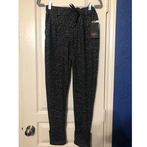 Black shimmer knit joggers Zara TRF